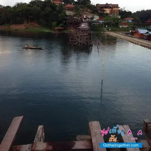 ภาพซ่อมสะพานมอญ สังขละบุรี พัง เมื่อปี 2556 1