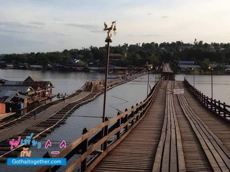สะพานลูกบวบชั่วคราวและ สะพานมอญ ขาด สังขละบุรี