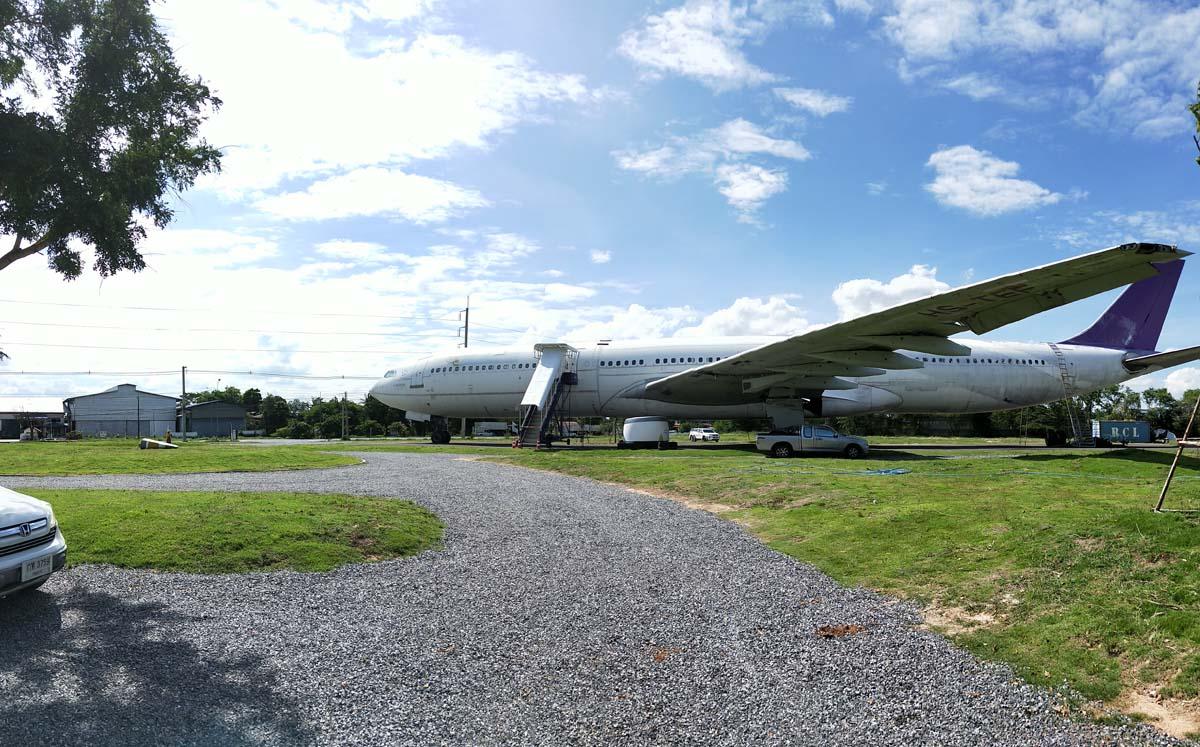 Airways Land ร้านกาแฟจุดเช็คอินมีเครื่องบิน