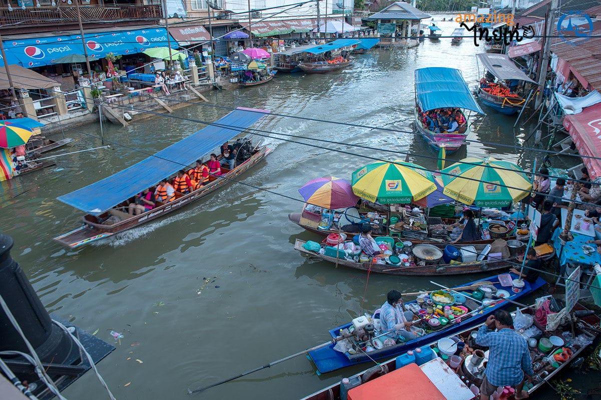 ตลาดน้ำอัมพวา สมุทรสงคราม